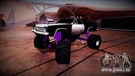 Picador Monster Truck für GTA San Andreas Unteransicht