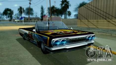 Savanna New PJ pour GTA San Andreas sur la vue arrière gauche