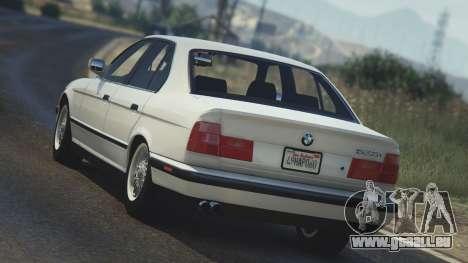 GTA 5 BMW 535i E34 hinten links Seitenansicht