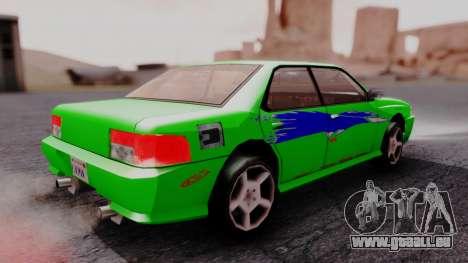 Sultan F&F Eclipse PJ pour GTA San Andreas laissé vue