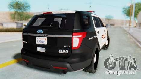 Ford Explorer Police für GTA San Andreas linke Ansicht