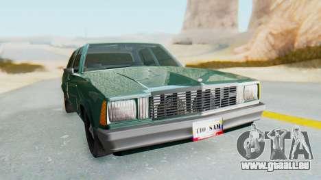 Chevrolet Malibu 1981 Twin Turbo pour GTA San Andreas vue de droite