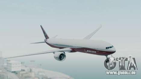 Boeing 777-9x House für GTA San Andreas zurück linke Ansicht