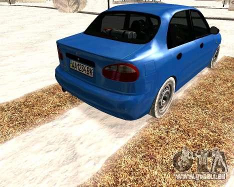 Daewoo Lanos 2001 Winter pour GTA San Andreas vue de droite