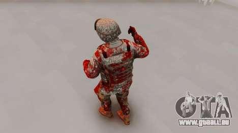 Zombie Military Skin pour GTA San Andreas troisième écran