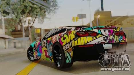 Chevrolet Corvette Stingray C7 2014 Sticker Bomb für GTA San Andreas linke Ansicht