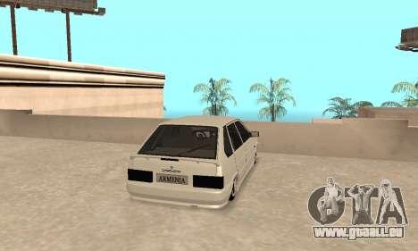 Vaz 2114 Armenian pour GTA San Andreas vue de droite