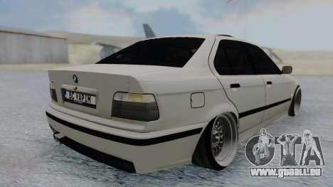 BMW 3-er E36 pour GTA San Andreas laissé vue