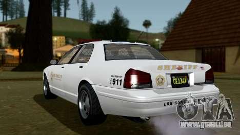 GTA 5 Vapid Stanier II Sheriff Cruiser IVF für GTA San Andreas linke Ansicht