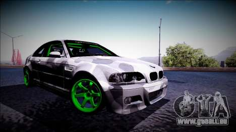 BMW M3 E46 Drift Monster Energy für GTA San Andreas linke Ansicht