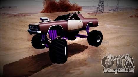 Picador Monster Truck pour GTA San Andreas vue intérieure