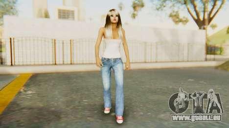 Blonde White Top pour GTA San Andreas deuxième écran