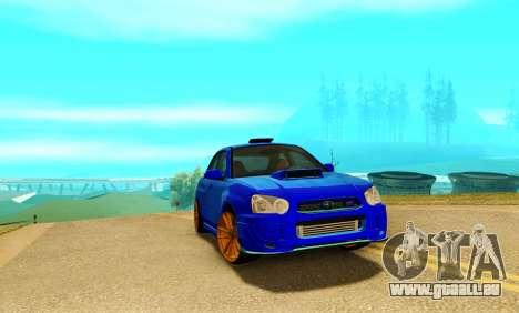 Subaru Impreza WRX STI Spec-C pour GTA San Andreas laissé vue