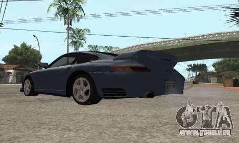 Porsche 911 GT2 pour GTA San Andreas sur la vue arrière gauche