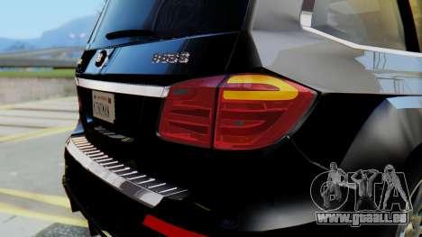 Brabus B63S pour GTA San Andreas vue de dessous