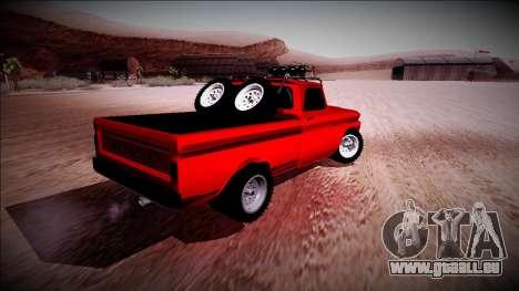 Chevrolet C10 Rusty Rebel pour GTA San Andreas vue de droite