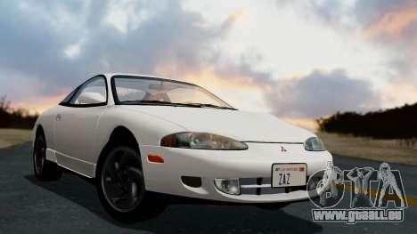 Mitsubishi Eclipse GST 1995 pour GTA San Andreas laissé vue
