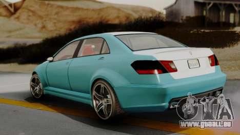 GTA 5 Benefactor Schafter LWB IVF pour GTA San Andreas sur la vue arrière gauche