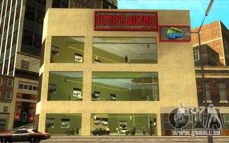 Die Wiederbelebung von Autohaus Ottos autos für GTA San Andreas