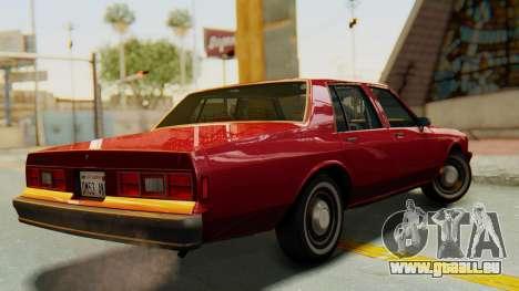 Chevrolet Impala 1984 pour GTA San Andreas laissé vue