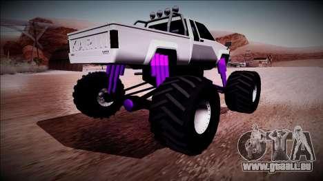 GTA 5 Karin Rebel Monster Truck pour GTA San Andreas laissé vue