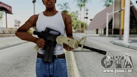 M16 A2 Carbine M727 v3 pour GTA San Andreas troisième écran