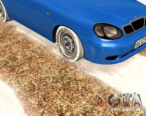 Daewoo Lanos 2001 Winter pour GTA San Andreas laissé vue