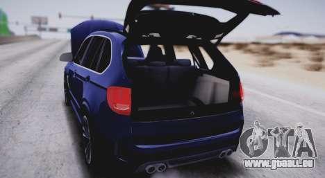BMW X5M pour GTA San Andreas vue intérieure