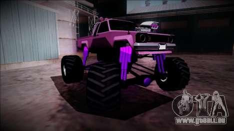 GTA 5 Karin Rebel Monster Truck pour GTA San Andreas vue de dessus