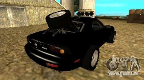 Mazda RX-7 Rusty Rebel pour GTA San Andreas vue arrière