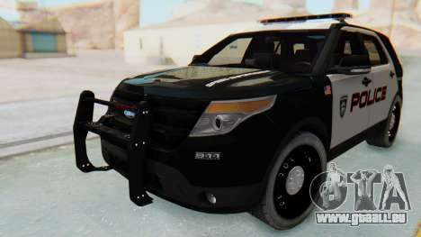 Ford Explorer Police für GTA San Andreas zurück linke Ansicht