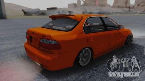 Honda Civic EG Ferio pour GTA San Andreas sur la vue arrière gauche