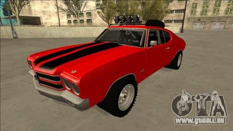 Chevrolet Chevelle Rusty Rebel pour GTA San Andreas vue de côté