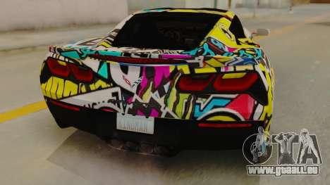 Chevrolet Corvette Stingray C7 2014 Sticker Bomb pour GTA San Andreas vue arrière