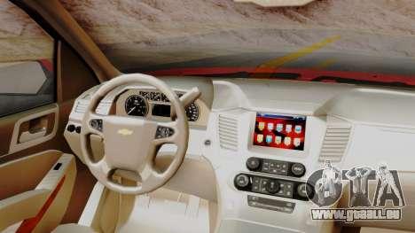 Chevrolet Suburban 2015 LTZ pour GTA San Andreas vue de droite