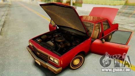 Chevrolet Impala 1984 pour GTA San Andreas vue intérieure