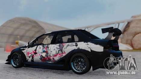 Mitsubishi Lancer Evo IX MR Tobiichi Origami für GTA San Andreas