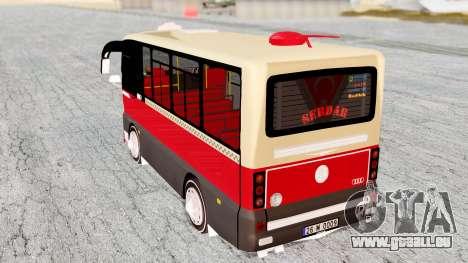 Otokar Magirus M2000 26M0009 pour GTA San Andreas sur la vue arrière gauche