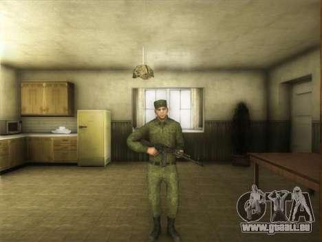 L'Ordinaire Modernes De L'Armée De La Russie pour GTA San Andreas troisième écran