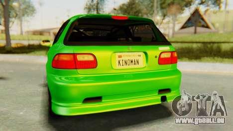 Honda Civic Vti 1994 V1.0 für GTA San Andreas Innenansicht