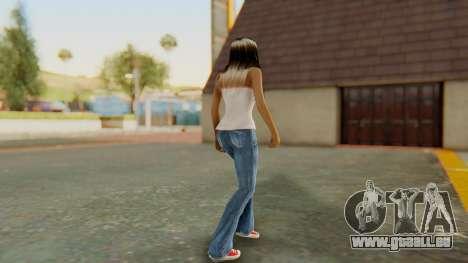 Blonde White Top pour GTA San Andreas troisième écran