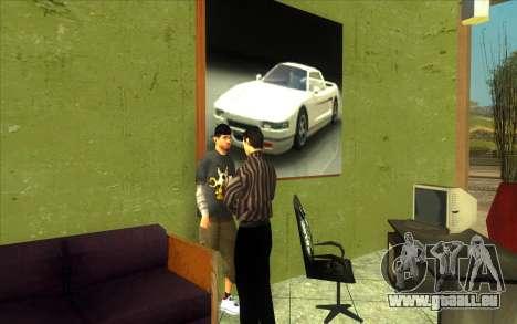 La reprise de la concession de voitures Ottos au pour GTA San Andreas cinquième écran