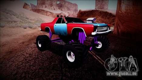 Picador Monster Truck pour GTA San Andreas vue arrière