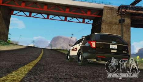 Ford Explorer Police pour GTA San Andreas sur la vue arrière gauche