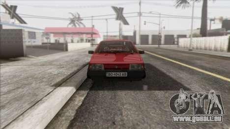 VAZ 2108 DropMode pour GTA San Andreas vue arrière