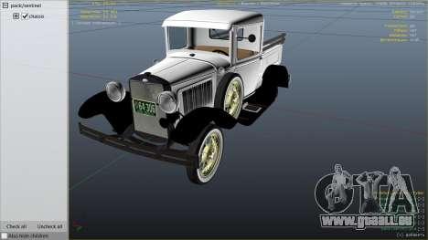 GTA 5 Ford A Pick-up 1930 droite vue latérale