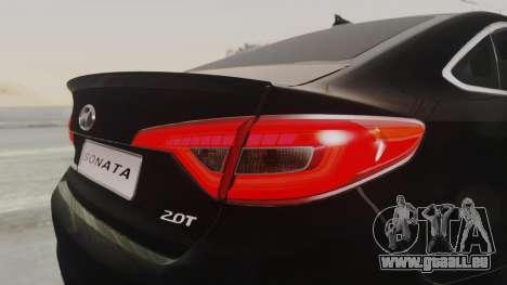 Hyundai Sonata Turbo 2.0 2015 V1.0 Final für GTA San Andreas Seitenansicht