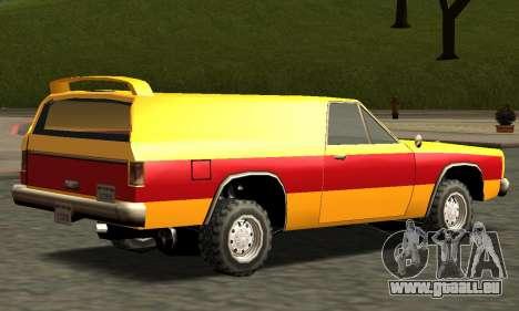 Picador Vagon Extreme pour GTA San Andreas vue de côté