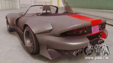 GTA 5 Bravado Banshee 900R Carbon IVF pour GTA San Andreas sur la vue arrière gauche