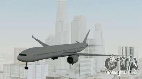 Boeing 777-9x Paintkit pour GTA San Andreas sur la vue arrière gauche